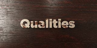 Qualities - grungy wooden headline on Maple  - 3D rendered royalty free stock image Stock Photo