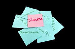 The qualities that make it possible to achieve success.  stock photos