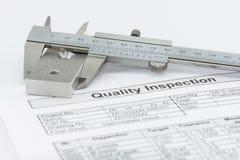 Qualitäts-Inspektion Stockfoto