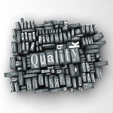 Quality. The word quality written in print letter cases Royalty Free Stock Photography