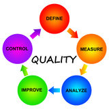 Quality. Keeping quality of the process or the product high by focusing on relevant and important issues (quality control concept
