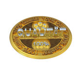 Quality. Gold 3d 100 percent quality-reliability metal exchange vector illustration