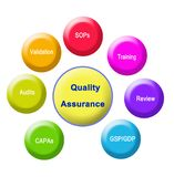 Quality Assurance. Seven Components of Quality Assurance vector illustration