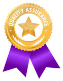 Quality assurance. Ribbon illustration design isolated over a white background Stock Photos