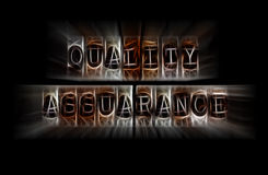 Quality assurance concept Royalty Free Stock Image