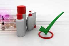 Quality assurance of cosmetics products Stock Photo