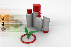 Quality assurance of cosmetics products Royalty Free Stock Image