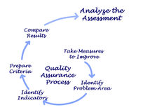 Quality Assurance Process. Diagram of Quality Assurance Process royalty free illustration