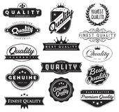 Quality Assurance Seals Vector EPS Royalty Free Stock Photo