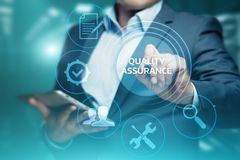 Quality Assurance Service Guarantee Standard Internet Business Technology Concept Stock Photo