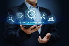 Quality Assurance Service Guarantee Standard Internet Business Technology Concept.  Royalty Free Stock Photos