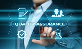 Quality Assurance Service Guarantee Standard Internet Business Technology Concept Royalty Free Stock Image