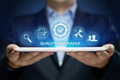 Quality Assurance Service Guarantee Standard Internet Business Technology Concept.  Stock Photography