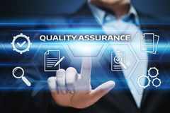 Quality Assurance Service Guarantee Standard Internet Business Technology Concept.  Royalty Free Stock Images