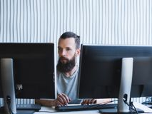 Quality assurance software engineer office stock photo
