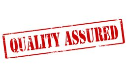 Quality assured. Rubber stamp with text quality assured inside,  illustration Royalty Free Stock Photo