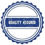QUALITY ASSURED stamp. sticker. seal. blue round grunge vintage ribbon sign. Illustration Stock Image