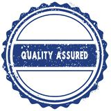 QUALITY ASSURED stamp. sticker. seal. blue round grunge vintage ribbon sign. Illustration Stock Photos