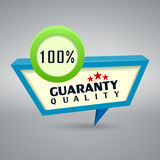 Quality authentic 3d label  on gray background. Quality authentic 3d label  on gray Stock Photography