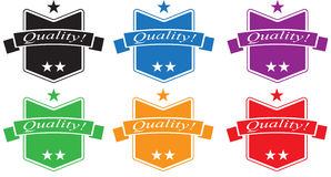 Quality Badge Set Stock Photo