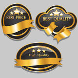 Quality Badge Set Royalty Free Stock Image