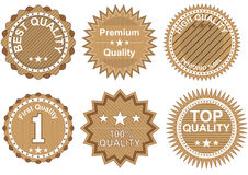 Quality badges Royalty Free Stock Photos
