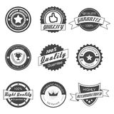 Quality badges Royalty Free Stock Photography