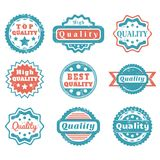 Quality badges Royalty Free Stock Images