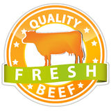 Quality beef sign Stock Images