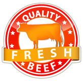 quality beef sign stock illustration