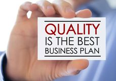 Quality is the best business plan royalty free stock photos