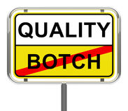 Quality-botch Royalty Free Stock Images