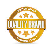 Quality brand seal stamp illustration design Stock Images