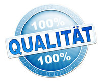 Quality button blue Stock Photo