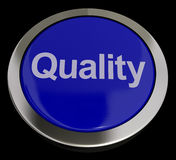 Quality Button Representing Excellent Service Or Products Royalty Free Stock Images