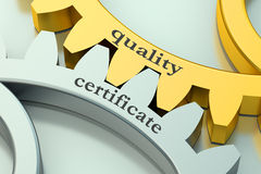 Quality certificate concept on the gear Royalty Free Stock Photography