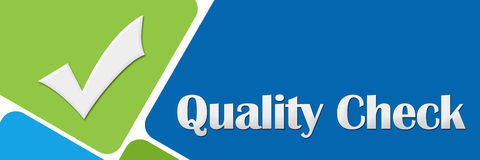 Quality Check Green Blue Rounded Squares Royalty Free Stock Photo
