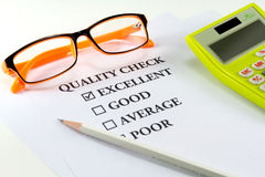 Quality check Royalty Free Stock Image