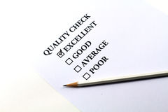 Quality check Royalty Free Stock Photo