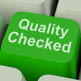 Quality Checked Key Shows Product Tested Ok Royalty Free Stock Image
