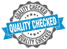 Quality checked stamp Royalty Free Stock Photography