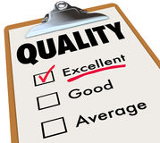 Quality Checklist Clipboard Excellent Rating Grade Review Royalty Free Stock Photo