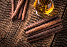 quality cigars and cognac Stock Image