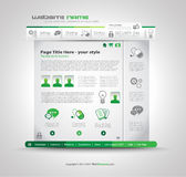 Quality clean web elements for blog and sites. I. Cons, header, carousel, infographics and a lot of icons Stock Photography