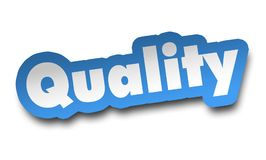 Quality concept 3d illustration isolated. On white background royalty free illustration