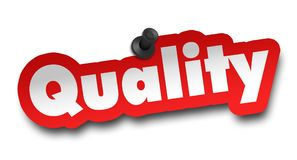 Quality concept 3d illustration isolated. On white background Royalty Free Stock Photography