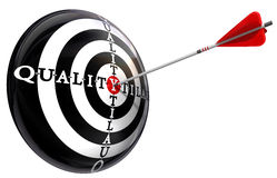 Quality concept target Royalty Free Stock Images