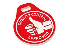 Quality control approved Stock Image