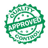 Quality Control Approved stamp Royalty Free Stock Image