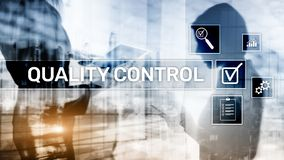 Quality control and assurance. Standardisation. Guarantee. Standards. Business and technology concept. stock illustration